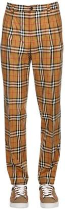 Burberry Check Cotton Poplin Pants