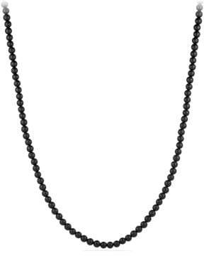 David Yurman Davidyurman Spiritual Bead Necklace With Black Onyx