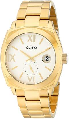 A Line a_line Women's AL-80014-YG-22 Dashuri Light Silver Dial Gold Ion-Plated Stainless Steel Watch