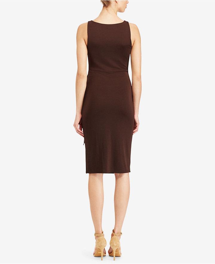 Lauren Ralph Lauren Faux-Wrap Jersey Dress 2