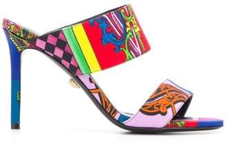 Versace baroque print sandals