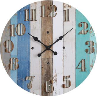 "3r Studio 30"" Round Wood Wall Clock"
