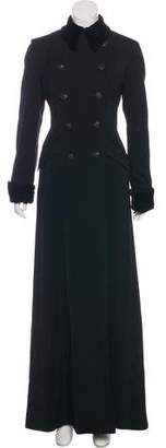 Ralph Lauren Black Label Wool Double-Breasted Long Coat