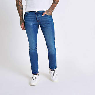 River Island Mid blue Eddy skinny jeans