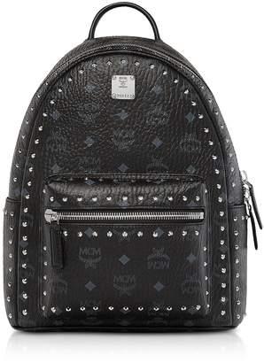 MCM Small Black Studded Outline Visetos Stark Backpack
