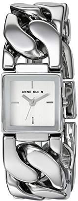 Anne Klein Women's AK/2665SVSV -Tone Chain Bracelet Watch
