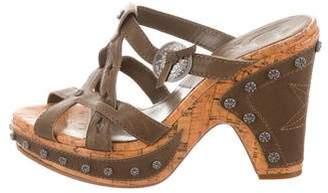 Christian Dior Studded Platform Sandals