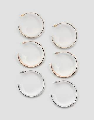 New Look 3 Pack Hoop Earrings