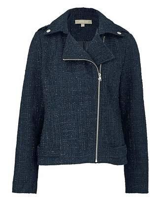 Fashion World Boucle Biker Jacket
