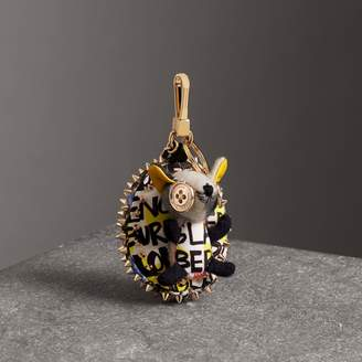 Burberry Bob The Hedgehog Graffiti Print Cotton Charm, Grey
