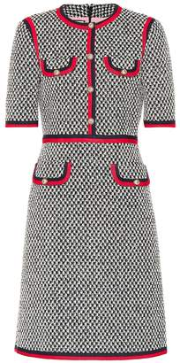 Gucci Web-trimmed cotton dress