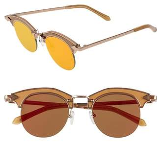 Karen Walker Buccaneer 47mm Round Sunglasses
