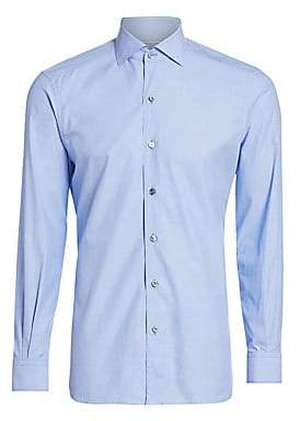 ef1a686141a30e Ermenegildo Zegna Men's Three-Ply Button-Down Shirt