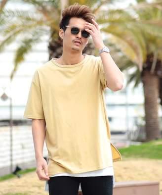 ジギーズショップ 無地Tシャツ×タンクアンサンブル / Tシャツ メンズ おしゃれ ティーシャツ 半袖 カットソー タンクトップ タンク インナー ノースリーブ レイヤード 重ね