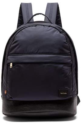 Paul Smith Leather Trimmed Backpack - Mens - Navy