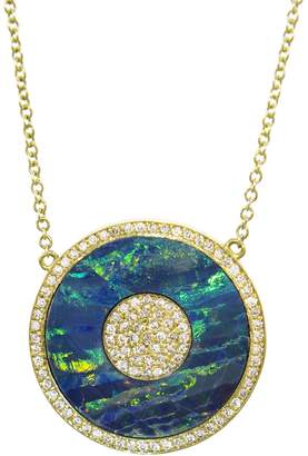Jennifer Meyer Diamond Opal Evil Eye Necklace