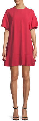RED Valentino Crepe-Back Satin Dress with Back Bows