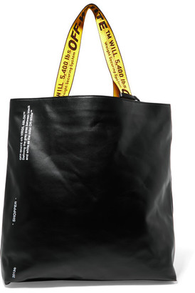 Off-White - Printed Leather Tote - Black $780 thestylecure.com