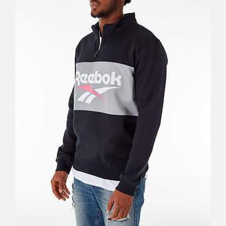Reebok Men's Classics Colorblock Vector Quarter-Zip Sweatshirt