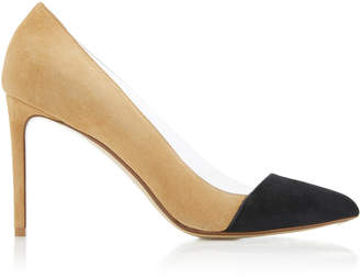 Francesco Russo PVC Cutout Suede Pump