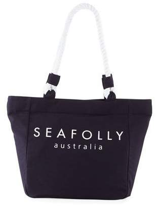 Seafolly Carried Away Canvas Rope Beach Tote Bag