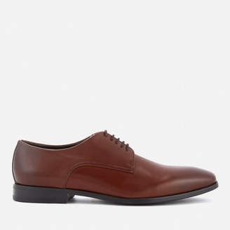 Men's High Line Leather Derby Shoes - Medium Brown