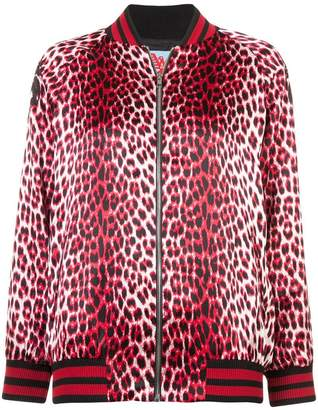 Adaptation leopard print bomber jacket
