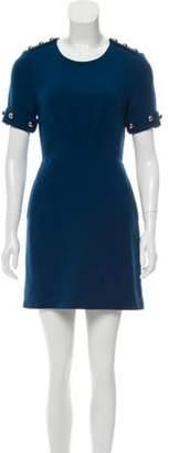 3.1 Phillip Lim Embellished Wool Dress Teal Embellished Wool Dress