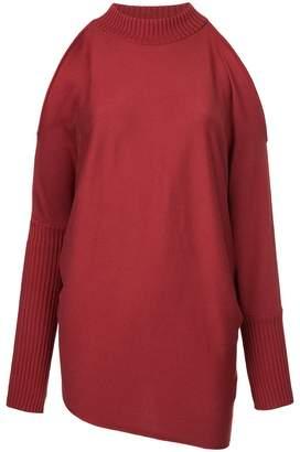Aula cold shoulder knitted jumper