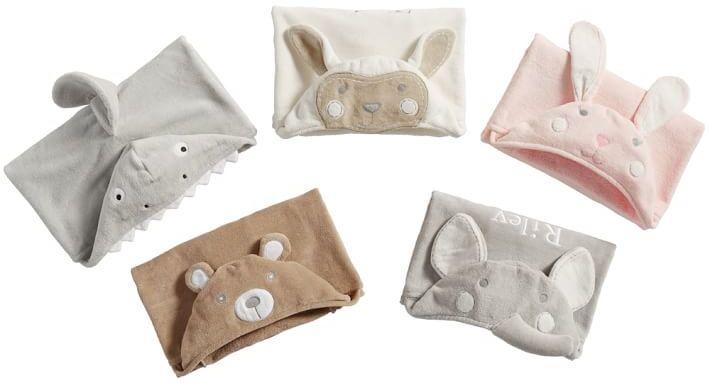 Pottery Barn Kids Nursery Puppy Bath Wrap, Nursery Wrap, Taupe