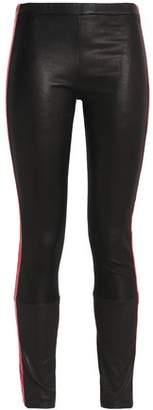 Haider Ackermann Metallic-Trimmed Leather Skinny Pants