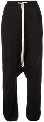 Rick Owens drop crotch drawstring trousers
