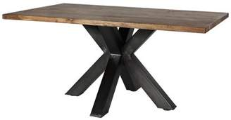 ACME Furniture Hosmer Dining Table, Oak & Antique Black (Chairs Separately)