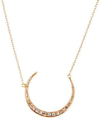 Jacquie Aiche 14K Diamond Moon Pendant Necklace