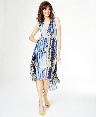 INC International Concepts Inc Tie-Dyed Ruffled High-Low Dress