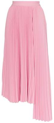 MSGM pleated asymmetric skirt