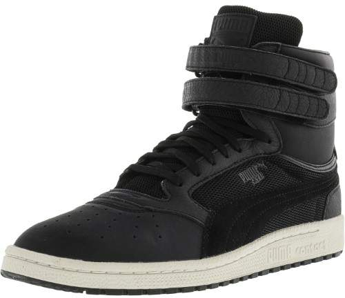 Puma Men's Sky Ii Hi Color Blocked Leather Black / Ankle-High Fashion Sneaker - 9.5M