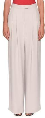 Giorgio Armani Pleated Wide-Leg Crepe Pants