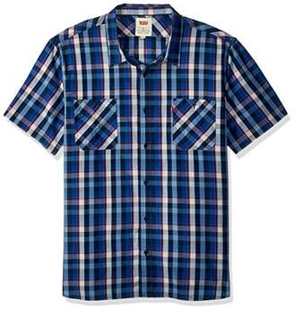Levi's Men's Barrington Short Sleeve Plaid Shirt