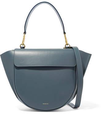 Hortensia Wandler Leather Shoulder Bag - Charcoal