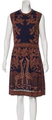 Valentino 2016 Giraffe Jacquard Dress