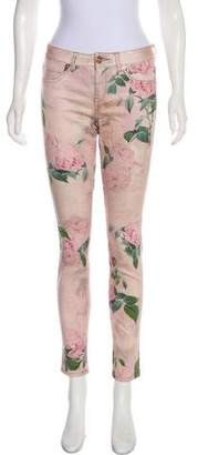 Ted Baker Printed Mid-Rise Jeans