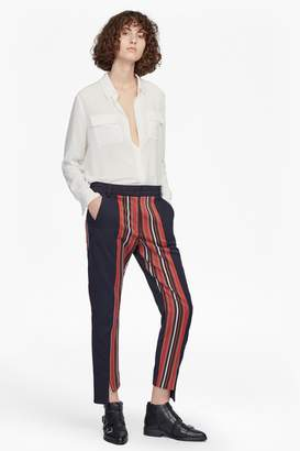French Connenction Dovie Striped Suiting Mix Trousers