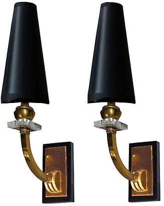 One Kings Lane Vintage French Sconces by Maison Jansen - Set of 2