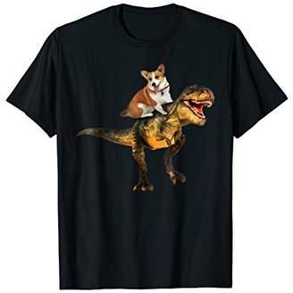 Corgi riding Dinosaur T-shirt