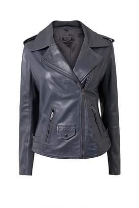Ellesd Grey Leather Jacket