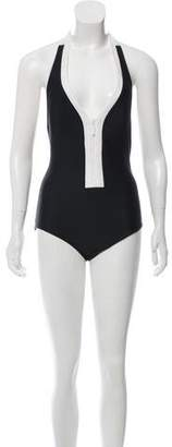 MICHAEL Michael Kors Colorblock One-Piece Swimsuit w/ Tags
