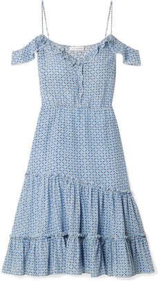Altuzarra Friday Cold-shoulder Floral-print Silk-georgette Dress - Blue