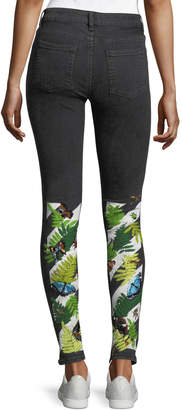 Off-White Off White Skinny Jeans with Embroidered Graphic