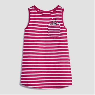 Joe Fresh Baby Girls Sleeveless Stripe Pocket Dress